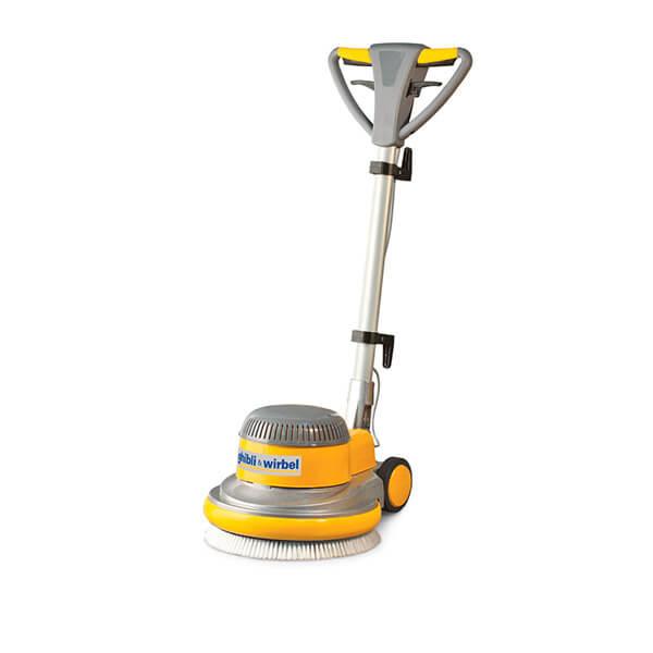 Еднодискова машина за почистване на твърди подове и пране на меки настилки